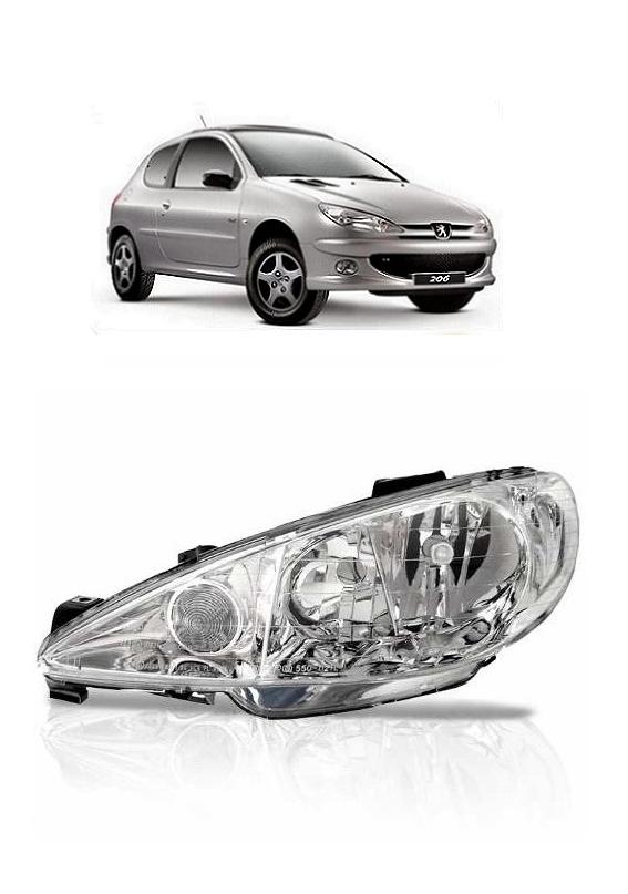 Farol Peugeot 206 2004 2005 2006 2007 2008 2009 2010 2011 Foco Duplo