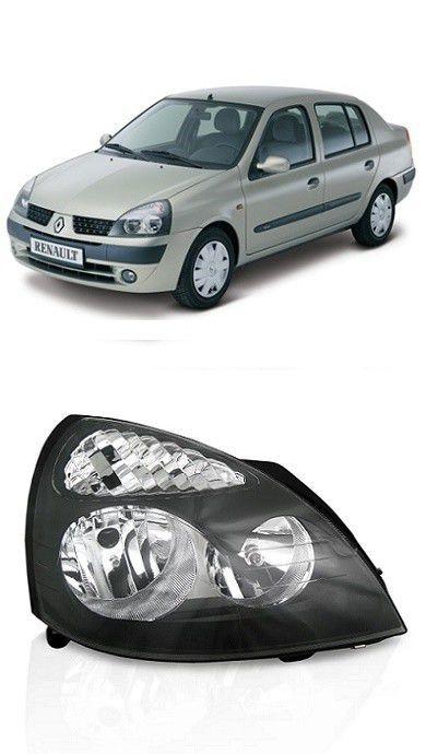 Farol Renault Clio 2003 2004 2005 2006 2007 2008 2009 2010 2011 2012 Mascara Negra