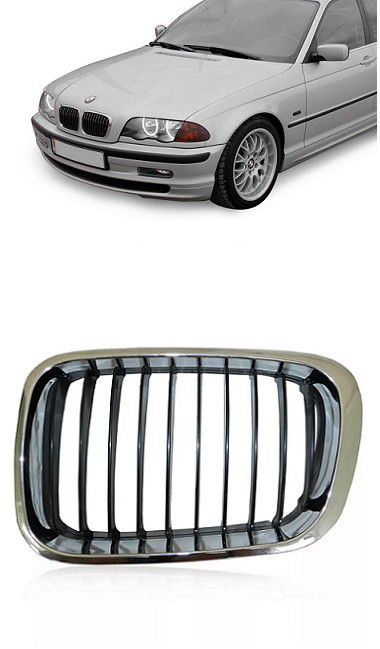 Grade Frontal BMW Serie 3 1999 2000 2001 Cromada