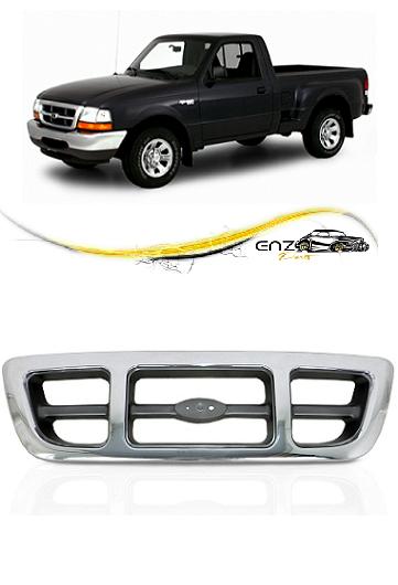 Grade Frontal Dianteira Ford Ranger 1998 1999 2000 2001 2002 2003 2004 4x4 Cromada