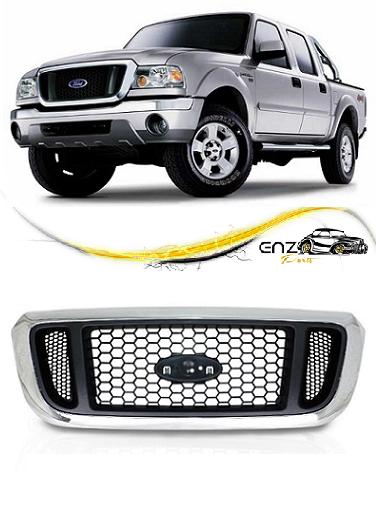 Grade Frontal Dianteira Ford Ranger 2005 2006 2007 2008 2009 Cromada