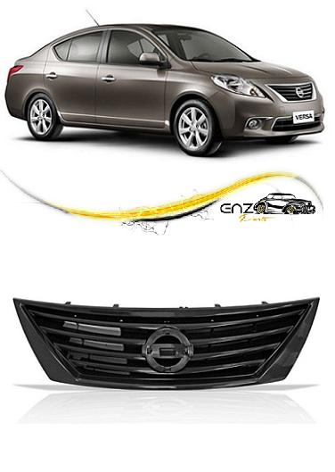Grade Frontal do Radiador Nissan Versa 2014 2015 Preta