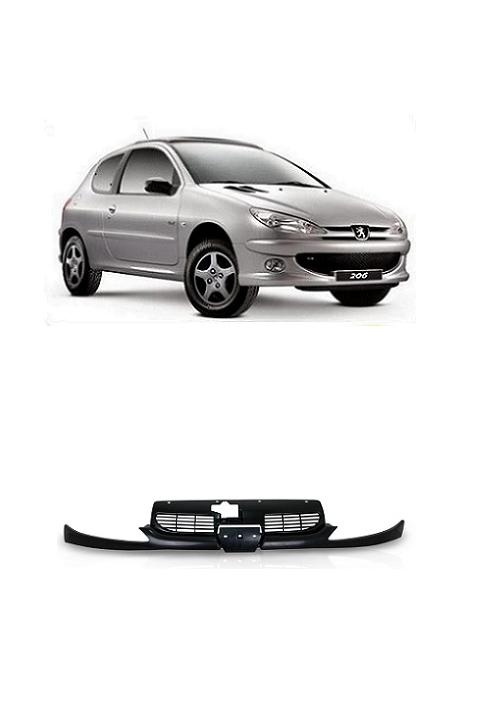 Grade Frontal do Radiador Peugeot 206 1999 a 2011 com Moldura