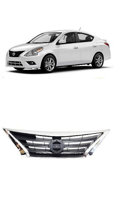Grade Frontal Nissan Versa 2015 2016 Cromada Original