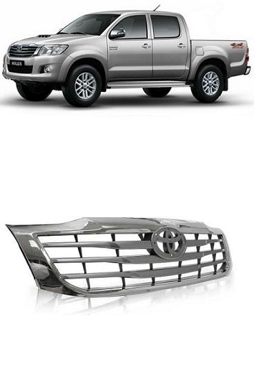 Grade Frontal Toda Cromada Hilux Pickup 2012 2013 2014