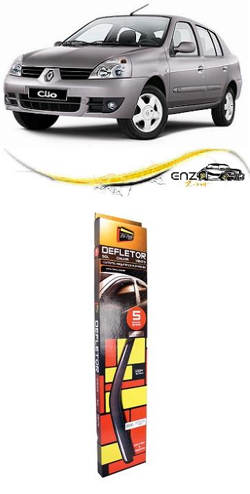 Jogo Defletor Calha de Chuva Renault Clio 2004 a 2011 Hatch Sedan 4 Portas