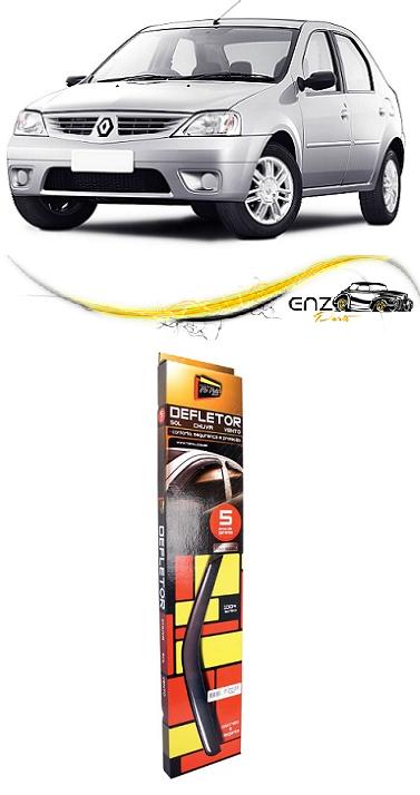 Jogo Defletor Calha de Chuva Renault Logan 2007 2008 2009 Fumê Claro 4 Portas