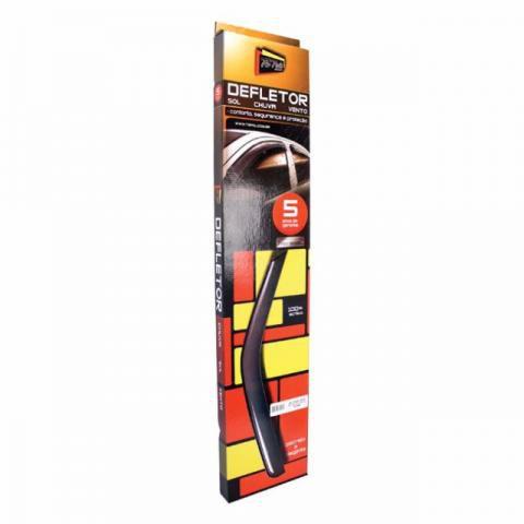 Jogo Defletor Calha de Chuva Renault Logan 2007 2008 2009 Fumê Escuro 4 Portas