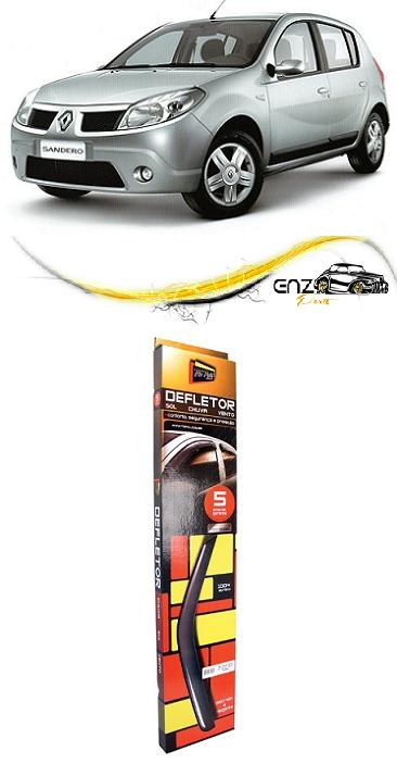 Jogo Defletor Calha de Chuva Renault Sandero 2007 a 2013 4 Portas