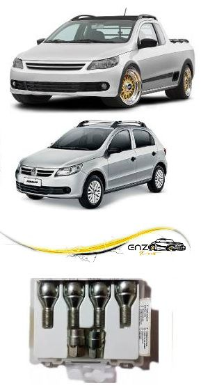 Jogo Parafuso Anti Furto Volkswagen Original Gol Saveiro G5