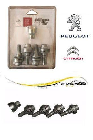 Kit Jogo Parafuso Roda Anti Furto Citroen Peugeot Original