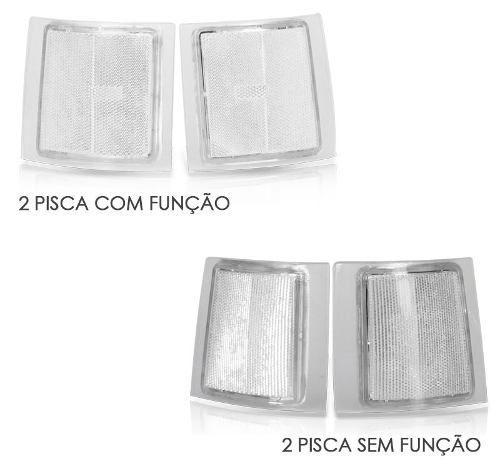 Kit Pisca Lanterna Dianteira Silverado 1997 1998 1999 2000 2001 2002 4 Peças