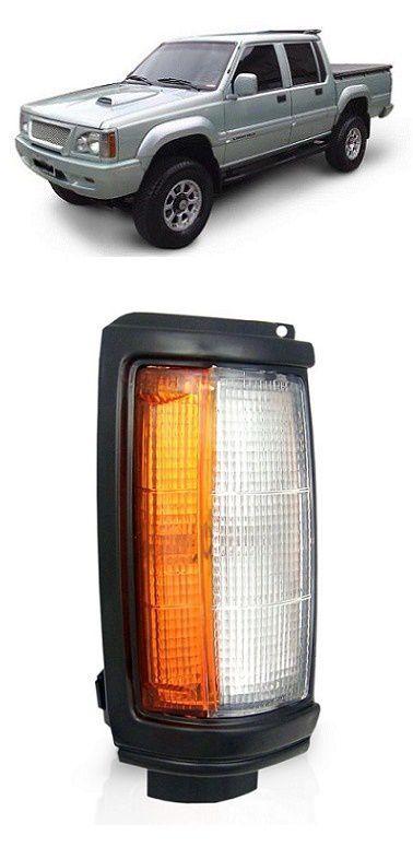 Lanterna Dianteira Pisca L200 1992 a 2003 Aro Preto