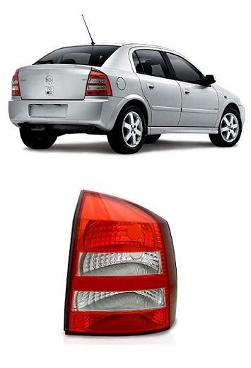 Lanterna Traseira Astra Hatch 2003 2004 2005 2006 2007 2008 2009 2010 2011 Bicolor