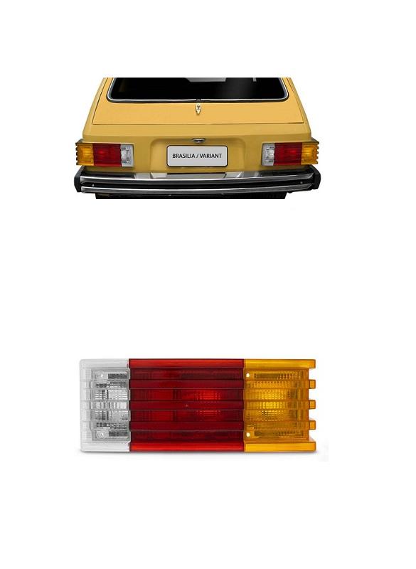 Lanterna Traseira Brasilia 1979 1980 1981 1982 Tricolor