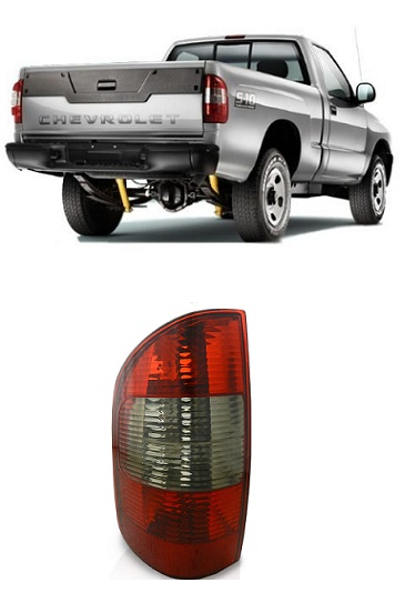 Lanterna Traseira Chevrolet S10 2001 2002 2003 2004 2005 2006 2007 2008 Fume