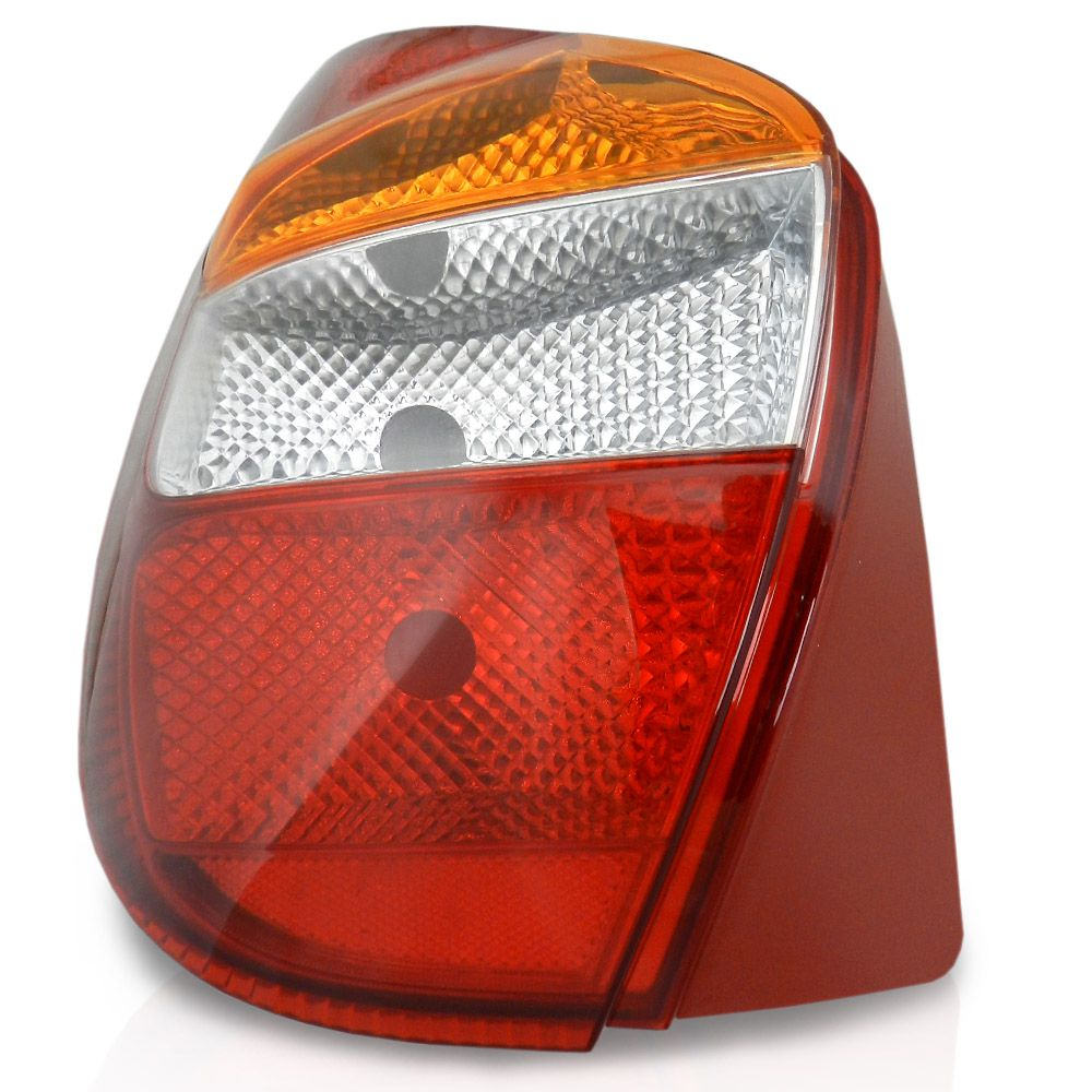Lanterna Traseira Fiat Palio 2001 2002 2003 2004 2005 2006 2007 Com Carcaça Vermelha