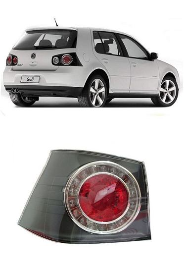Lanterna Traseira Golf 2008 2009 2010 2011 2012 2013 Modelo da Lateral