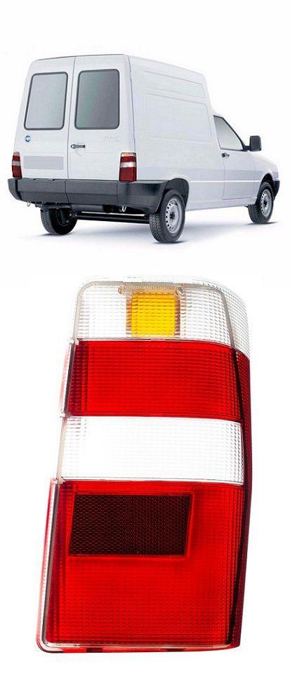 Lente da Lanterna Traseira Fiat Fiorino 2004 a 2013 Bicolor