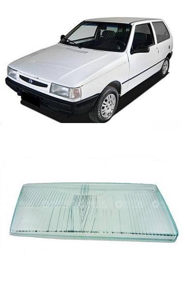 Lente Farol Fiat Uno 1991 a 2003