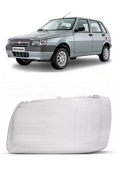 Lente Farol Fiat Uno Fiorino 2004 2005 2006 2007 2008 2009 2010