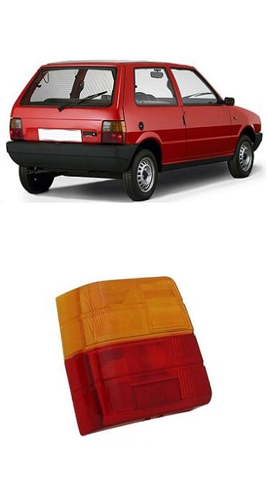 Lente Lanterna Traseira Fiat Uno 1984 a 2004 Bicolor