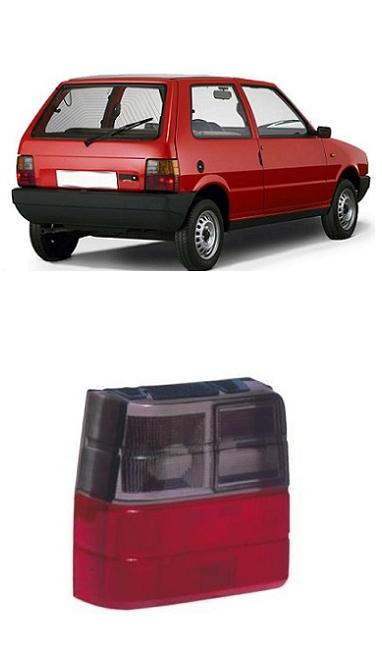 Lente Lanterna Traseira Fiat Uno 1984 a 2004 Fumê
