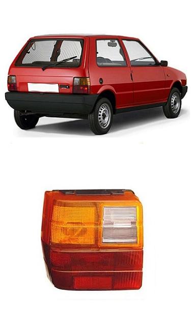 Lente Lanterna Traseira Fiat Uno 1984 a 2004 Tricolor