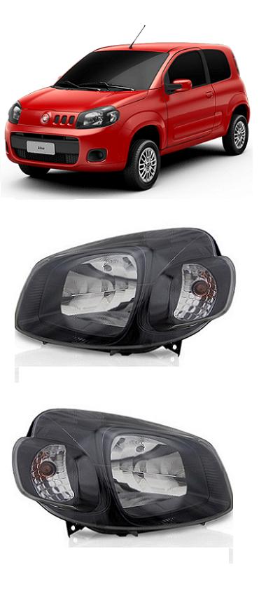 Par Farol Fiat Uno Vivace 2011 2012 2013 2014 Black