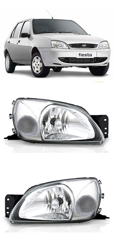 Par Farol Ford Fiesta 2000 a 2007 Courier 2000 a 2013 Pisca Cristal