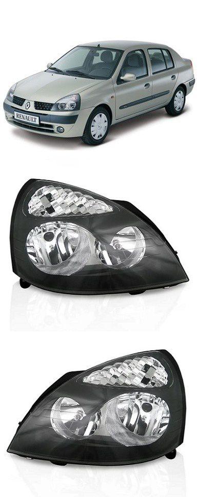 Par Farol Renault Clio 2003 a 2012 Mascara Negra