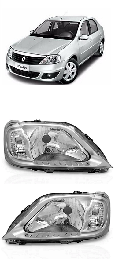 Par Farol Renault Logan 2007 2008 2009 2010 Cromado
