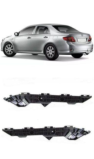 Par Guia do Parachoque Traseiro Corolla 2009 2010 2011 2012 2013 2014