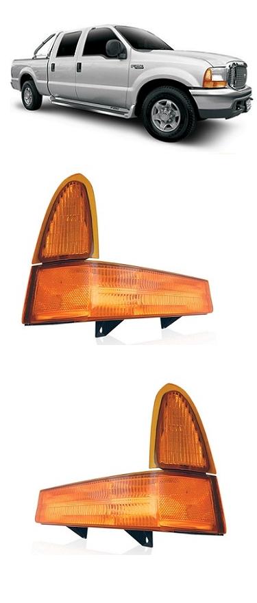 Par Lanterna Dianteira Pisca F250 F350 F4000 1999 2000 2001 2002 2003 2004 2005 Ambar