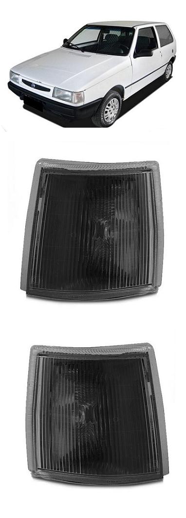 Par Lanterna Dianteira Pisca Fiat Uno 1991 a 2003 Fume