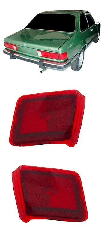 Par Lanterna Traseira Chevette Sedan 1980 1981 1982 Modelo da Lateral