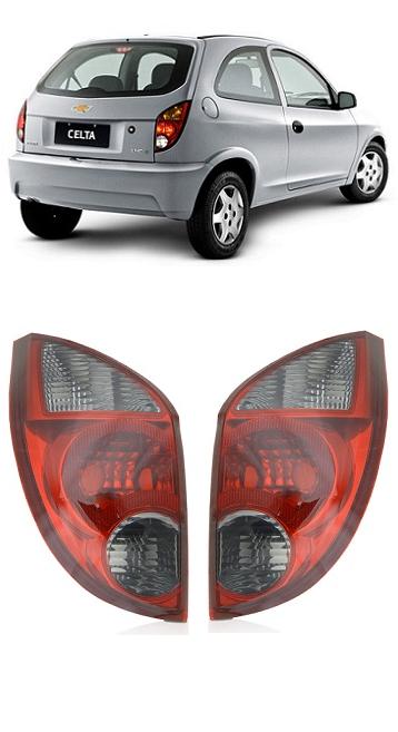 Par Lanterna Traseira Chevrolet Celta 2007 2008 2009 2010 2011 2012 Fumê