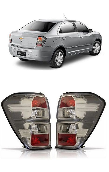 Par Lanterna Traseira Chevrolet Cobalt 2012 2013 2014 2015 Fumê