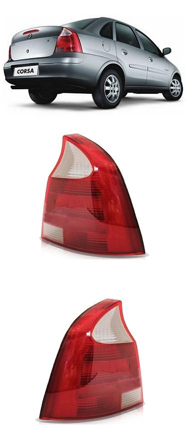 Par Lanterna Traseira Corsa Sedan 2008 2009 2010 2011 Ré Cristal