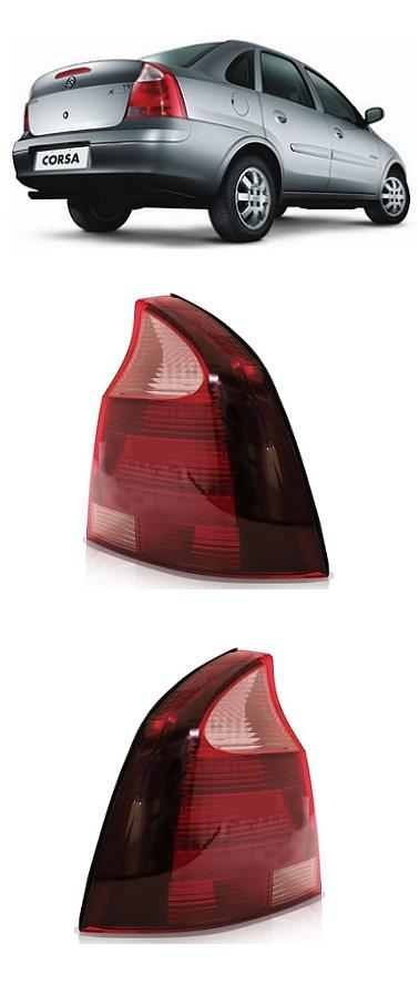 Par Lanterna Traseira Corsa Sedan 2008 2009 2010 2011 Ré Rosa