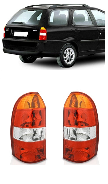 Par Lanterna Traseira Fiat Palio Weekend 2001 2002 2003 2004