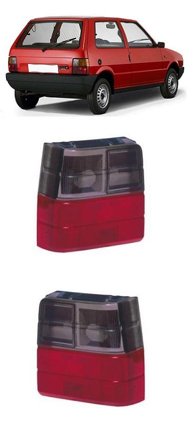 Par Lanterna Traseira Fiat Uno 1984 a 2004 Fumê