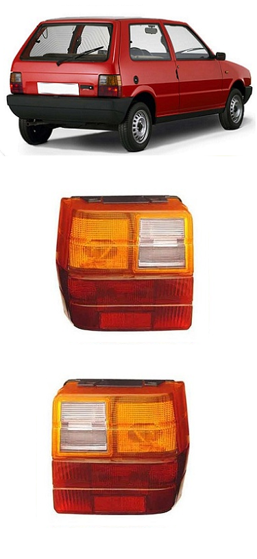 Par Lanterna Traseira Fiat Uno 1984 a 2004 Tricolor