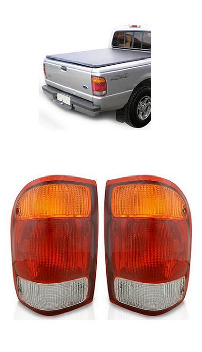 Par Lanterna Traseira Ford Ranger 1998 1999 2000 2001 2002 2003 2004 Tricolor