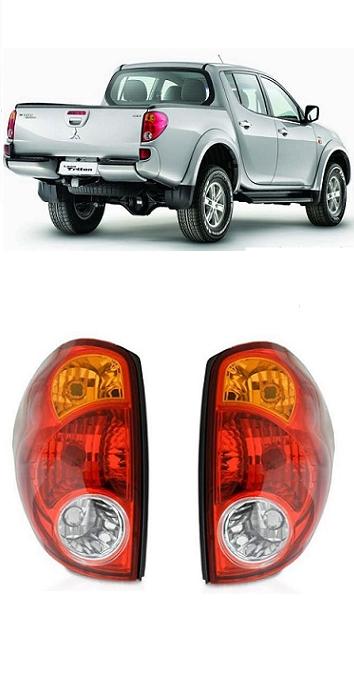 Par Lanterna Traseira L200 Triton 2007 2008 2009 2010 2011 2012 2013 2014 2015