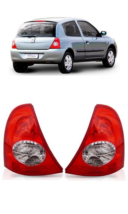 Par Lanterna Traseira Renault Clio 2003 2004 2005 2006 2007 2008 2009 2010 2011 Hatch