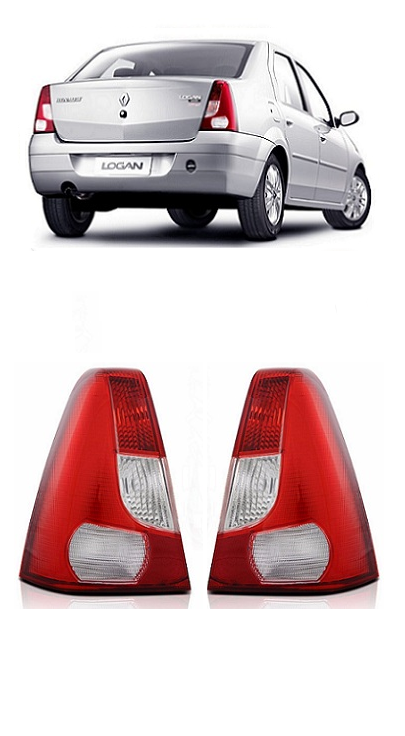 Par Lanterna Traseira Renault Logan 2007 2008 2009 2010