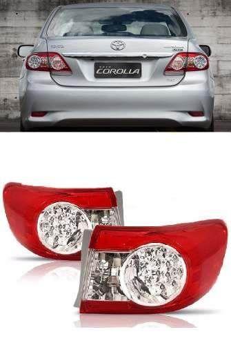 Par Lanterna Traseira Toyota Corolla 2012 2013 2014 Modelo Lateral com Led
