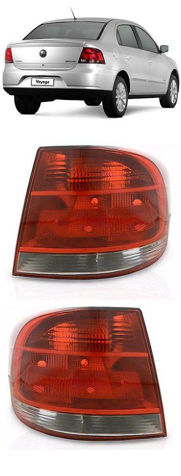 Par Lanterna Traseira Voyage G5 2009 2010 2011 2012 Pisca Cristal