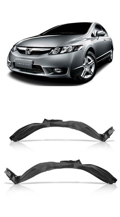 Par Parabarro Dianteiro Honda New Civic 2007 2008 2009 2010 2011
